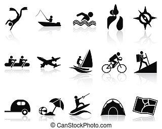 Sommeraktivitäten Symbole gesetzt.