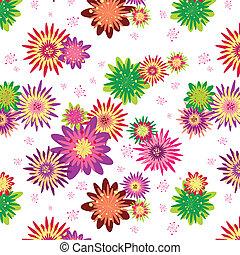 Sommerfarbenes Blumenmuster