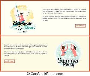 Sommerferien, Aktivitäten von Menschen Web