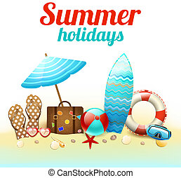 Sommerferien Hintergrundposter.