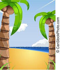 Sommerferien-Illustration