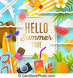 Sommerferien und Urlaub Illustration