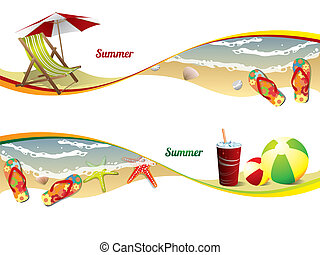 Sommerstrandbanner