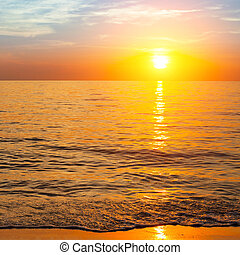 Sonne über Meer, Naturzusammensetzung.