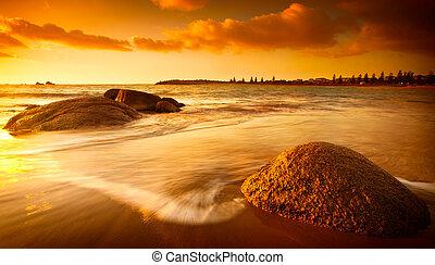 Sonne getönter Strand
