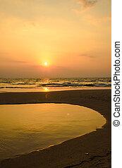 Sonne im Meer.
