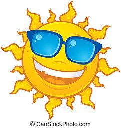 Sonne mit Sonnenbrille