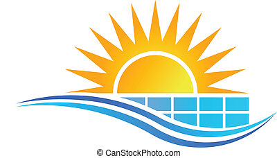 Sonne mit Sonnenkollektor