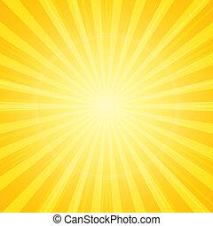 Sonne mit Strahlen im Hintergrund