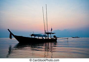 Sonnenaufgang auf der Insel Surin, aus Thailand