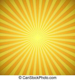 Sonnenbrand hellgelb und oranger Vektor-Hintergrund mit Schattenwirkung.