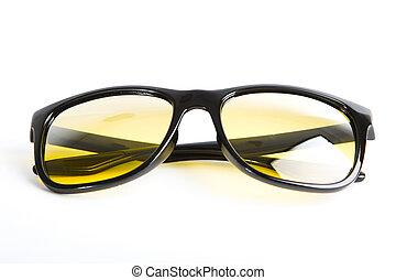 sonnenbrille, freigestellt, weißes