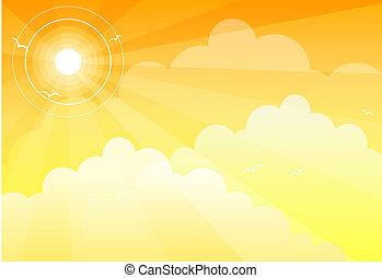 Sonnenhimmel Wolken.