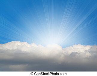 Sonnenlicht mit Wolke