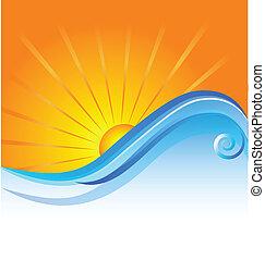 Sonnenstrand-Logo-Vorlage.