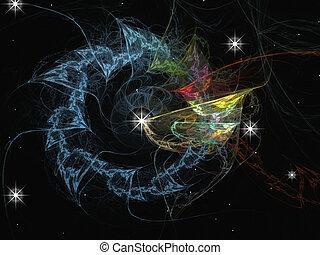 Sonnensystem mit Grafikmuster