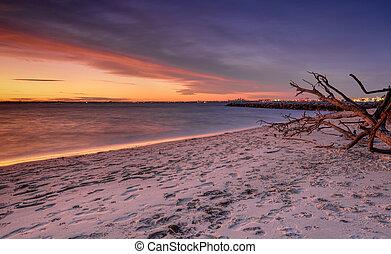Sonnenuntergang am Silberstrand Botanik Bay Sydney.