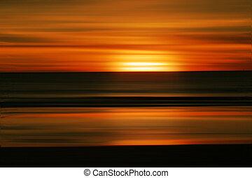 Sonnenuntergang am Strand abbrechen