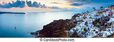 Sonnenuntergang bei Oia Santorini