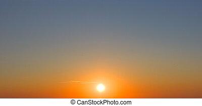 Sonnenuntergang, die Sonne