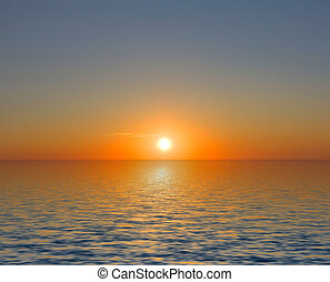 Sonnenuntergang, See