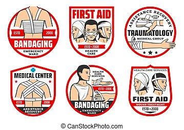 sorgfalt, traumatology, erste hilfe, service, gesundheit
