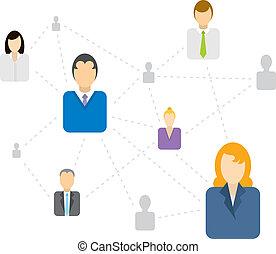Sozial-/Geschäftsnetzwerk verbunden