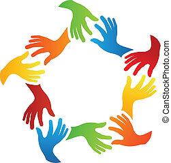 Soziale Freunde Hände.