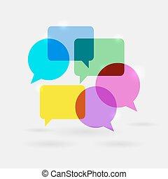 Soziale Kommunikationsgespräche Blasen