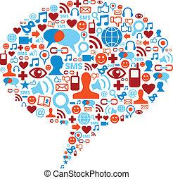 Soziale Medien-Blase-Konzept