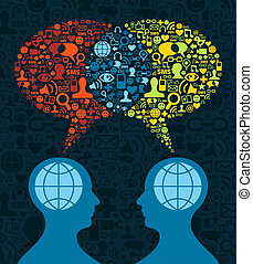 Soziale Medien-Hirnkommunikation
