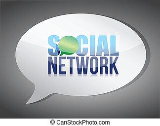 Soziale Medien-Redeblase