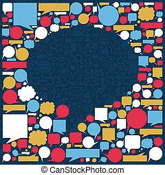 Soziale Medien sprechen von Blasen-Stimme