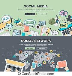 Soziale Medien und soziales Netzwerk