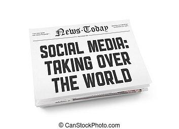 Soziale Medien-Zeitungskonzept