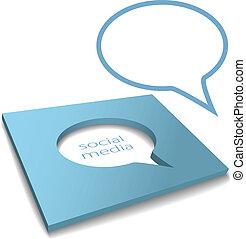 Soziale Mediensprache ist ausgeschnitten