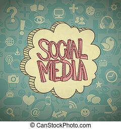 Soziale Medienwolke.