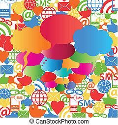 Soziale Netzwerk-Rede Blasen