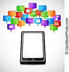 Soziale Rede Blasen