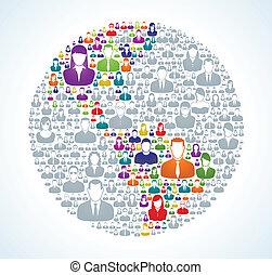Soziale Weltbevölkerung.