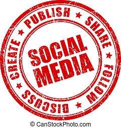 Sozialer Medienvektorstempel