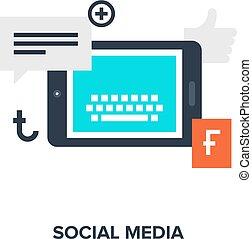 Soziales Medienkonzept.