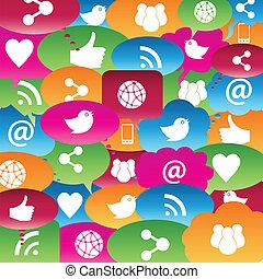 Soziales Netzwerk redet über Blasen