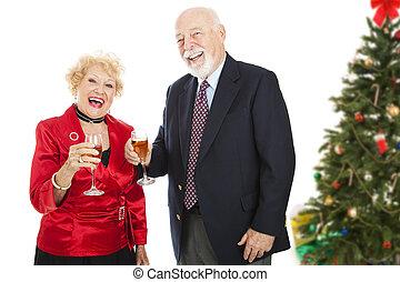 spaß, weihnachtsparty