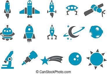 Space Icon Set.