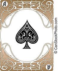Spade-Ace-Karte