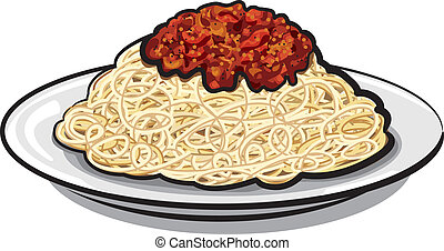 Spaghetti mit Soße