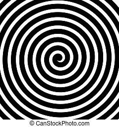 Spannung, Spirale, konzentrische Linien, Kreisbewegung, rotierende Hintergründe.