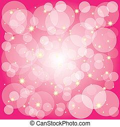 Sparkling-Stars-Bläschen auf Magenta-Hintergrund