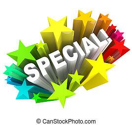 Spezialwort-Stars einzigartiges Spar-Event